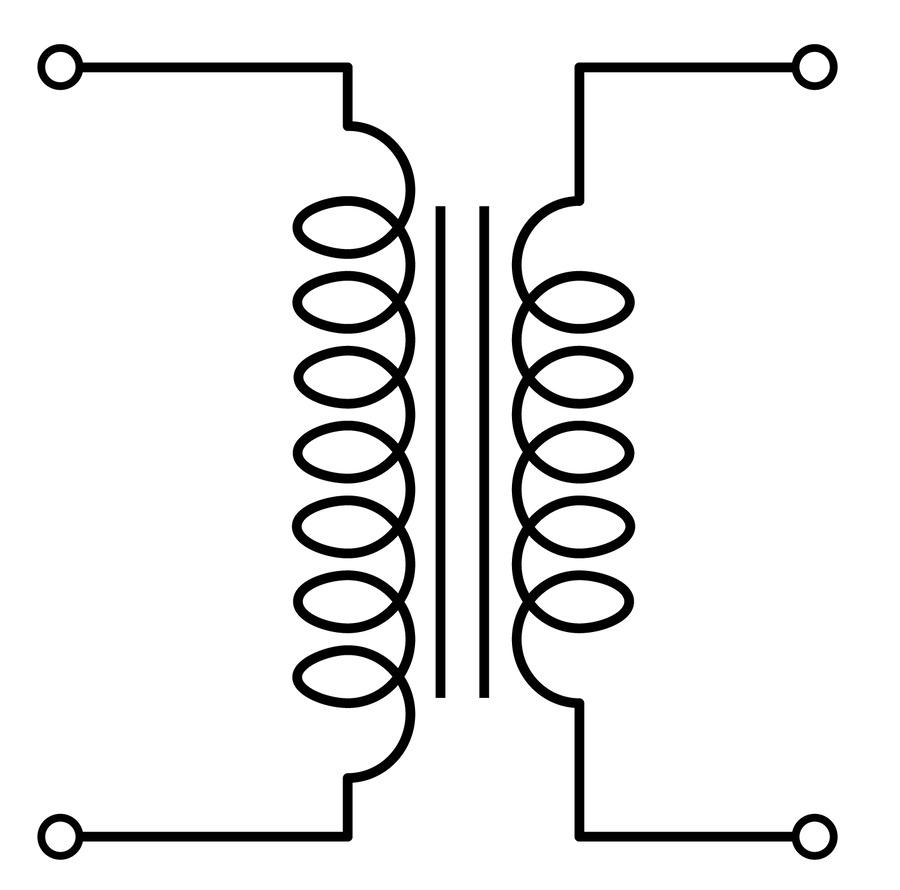 Download Transformer Schematic Symbol Clipart Electronic Wiring Diagram Symbols
