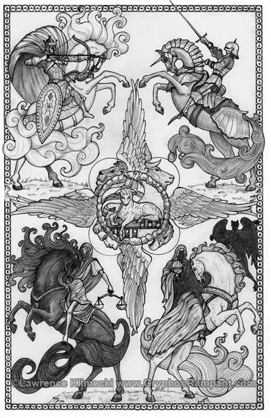 Download four horsemen darksiders tattoos clipart Four