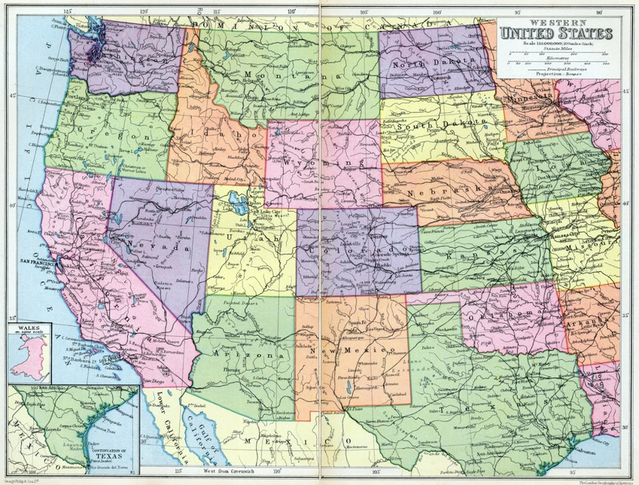 Download map of western united states clipart West Coast of the ...