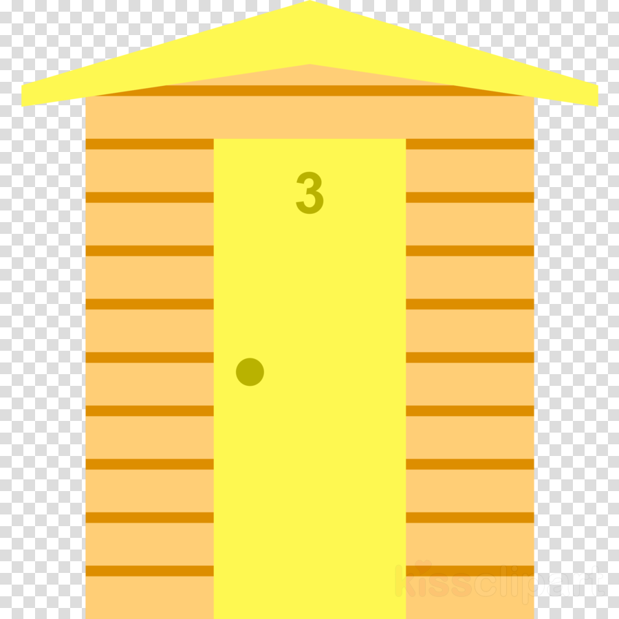 Beach Hut Yellow Transparent Png Image Clipart Free Download