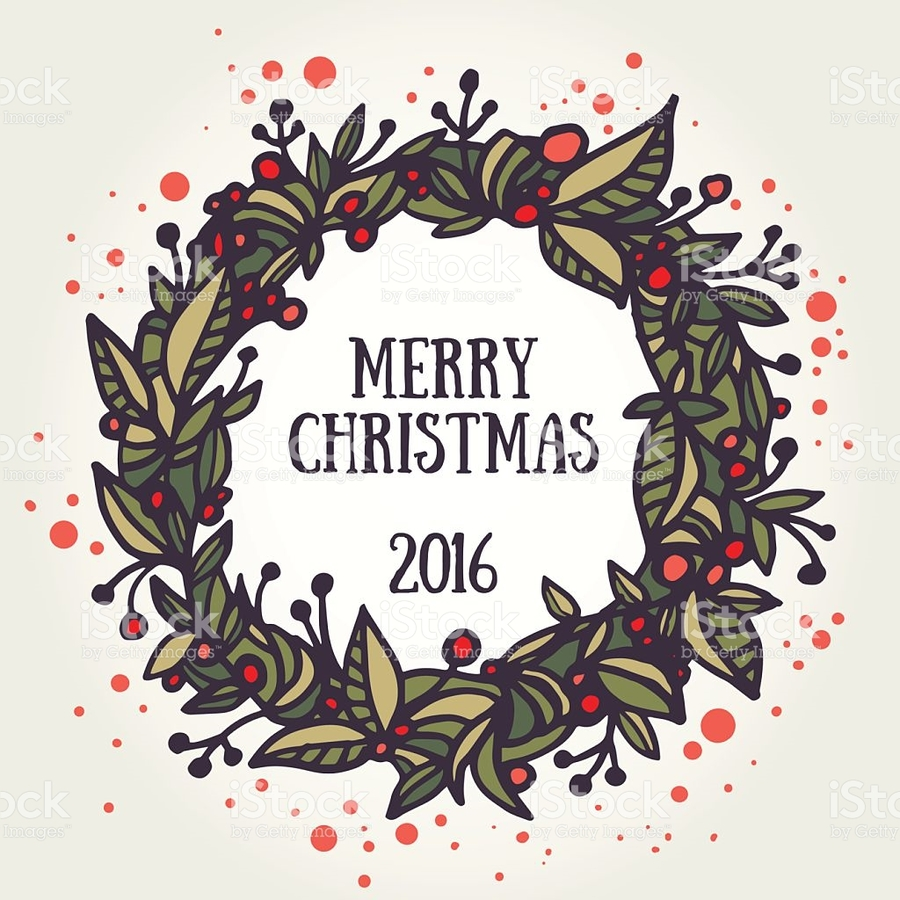 Download hand drawn christmas wreath clipart Wreath Christmas Day ...