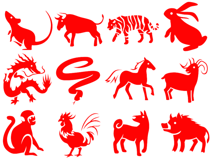 12 animals of the chinese zodiac clipart The Chinese Zodiac