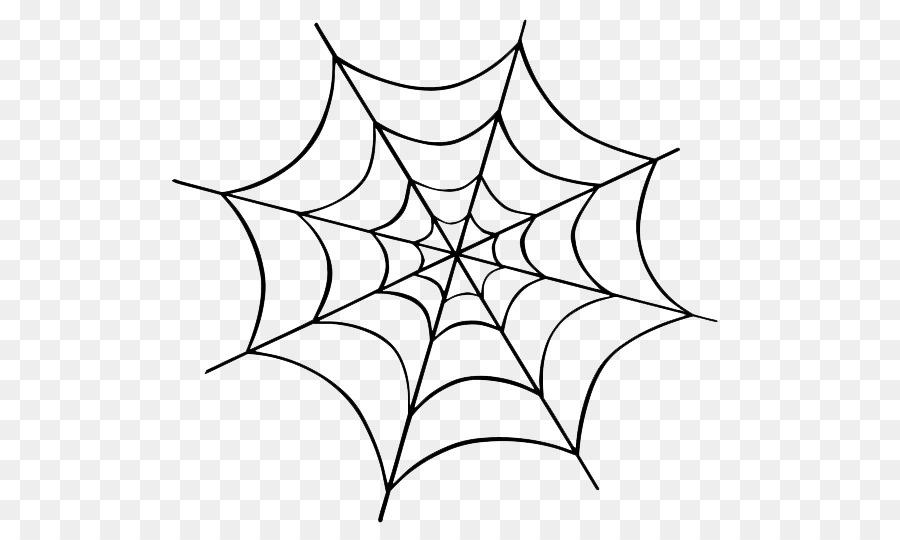 Spider background. White leaf line transparent