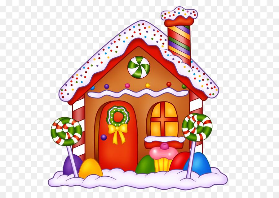 Christmas Gingerbread House Cartoon.Christmas Decoration Cartoon Clipart House Food
