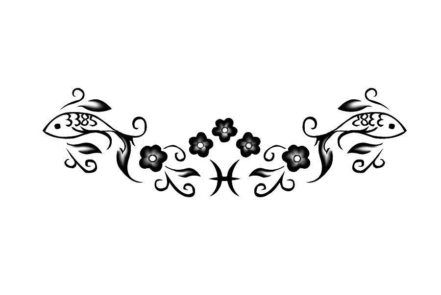 Download Pisces Symbols For Tattos Clipart Pisces Tattoo Zodiac