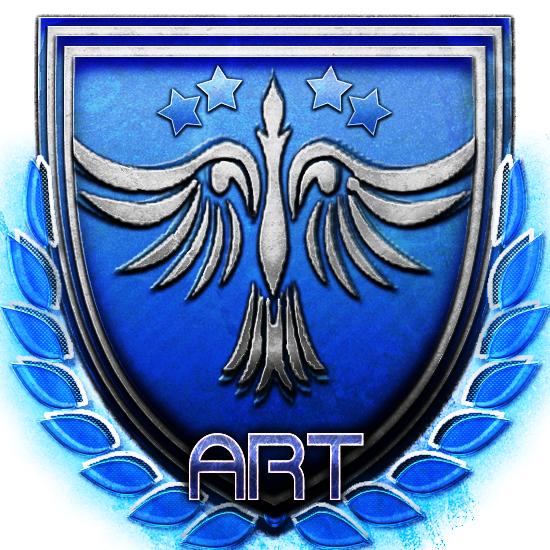cobalt blue clipart Emblem Badge Cobalt blue