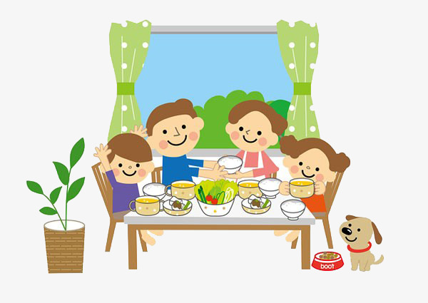 family eating clip art - 600×425