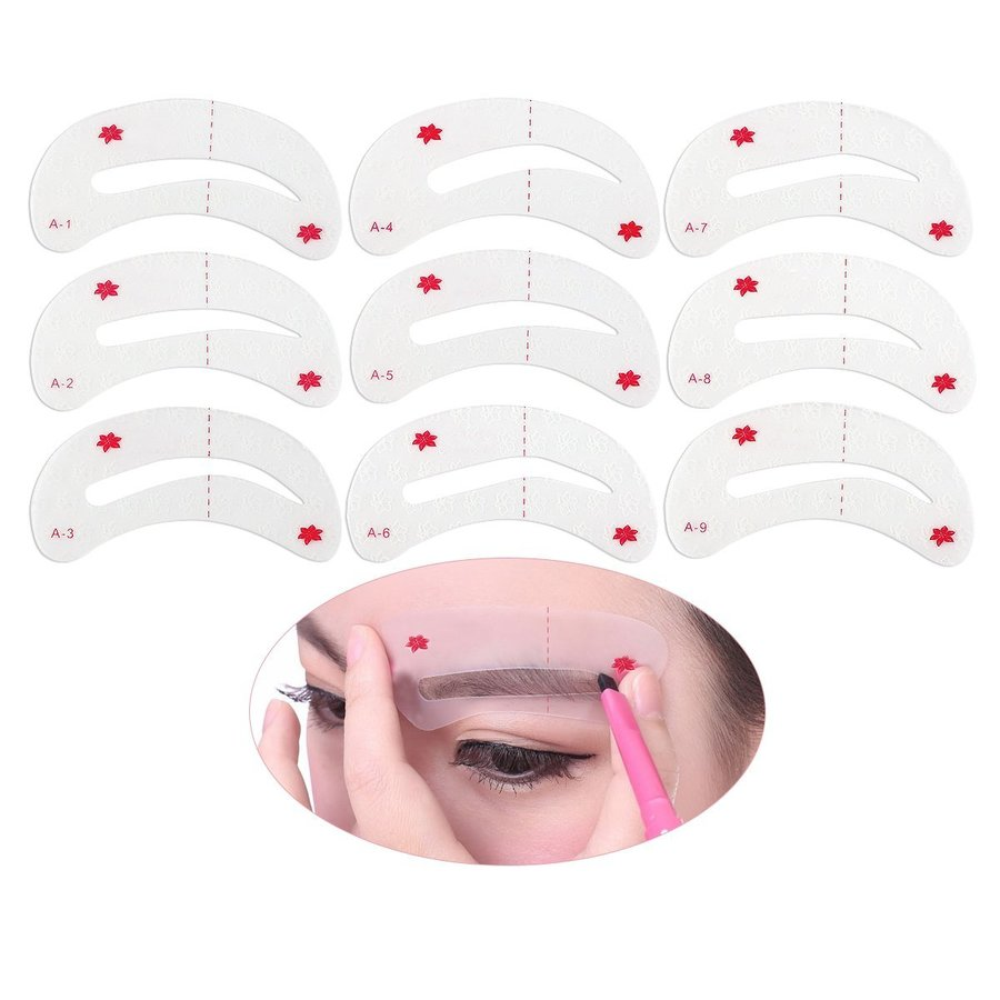 Download Winomo Eyebrow Stencils Kit Soft Magic Easy Makeup Shaping Template Clipart Cosmetics Stencil Drawing
