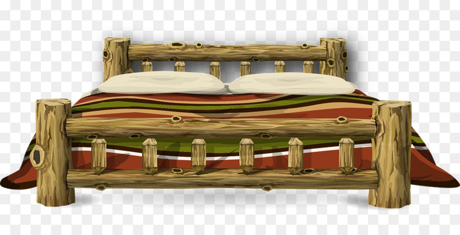wood bed clipart Bed frame Clip art