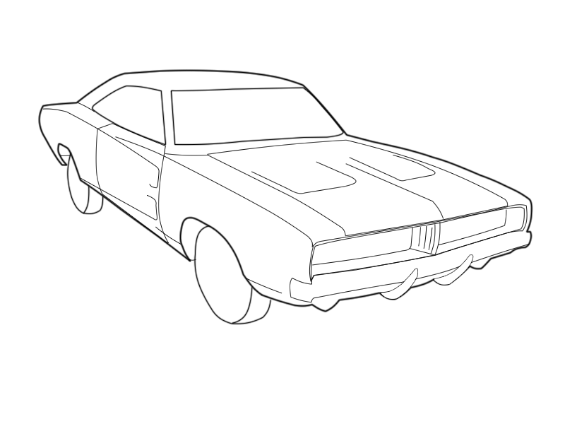 Car, Line, Drawing, transparent png image & clipart free download