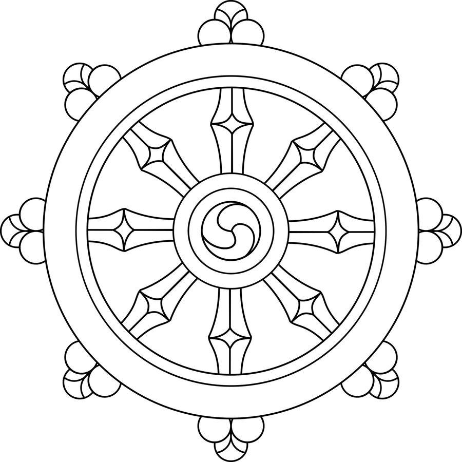 Download Dharma Wheel Svg Clipart Dharmachakra Buddhism Mandala