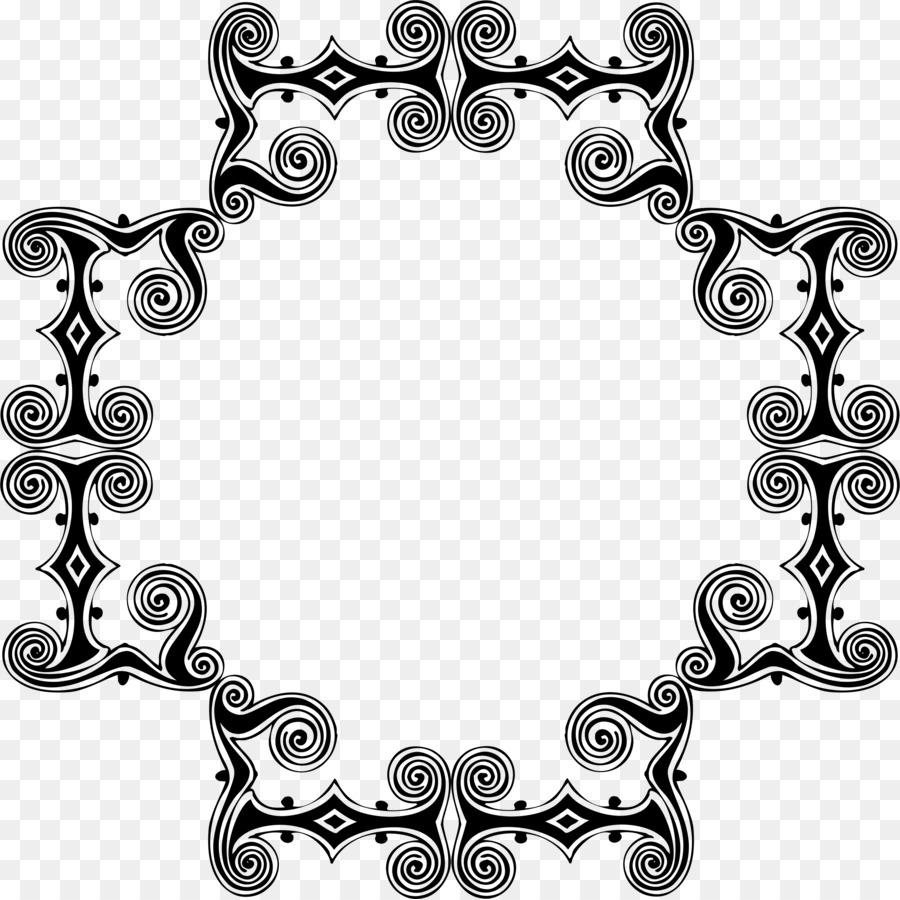 Border Design Black And White Clipart Flag Text Pattern