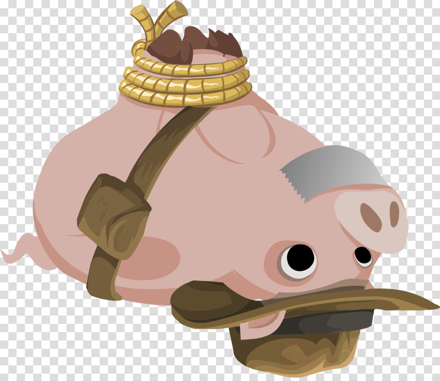 Domestic pig clipart Domestic pig Clip art