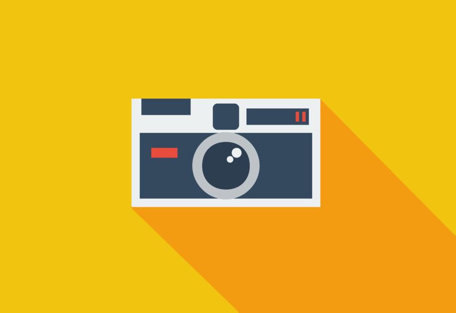 appareil photo flat design clipart