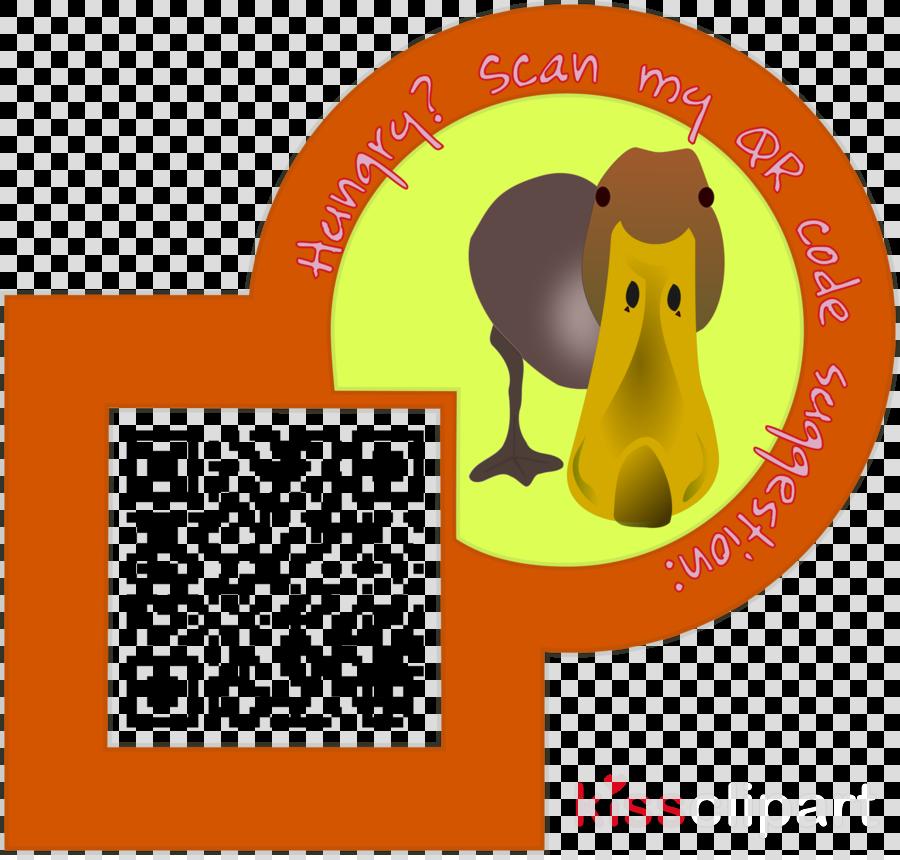 QR code clipart Duck QR code Clip art