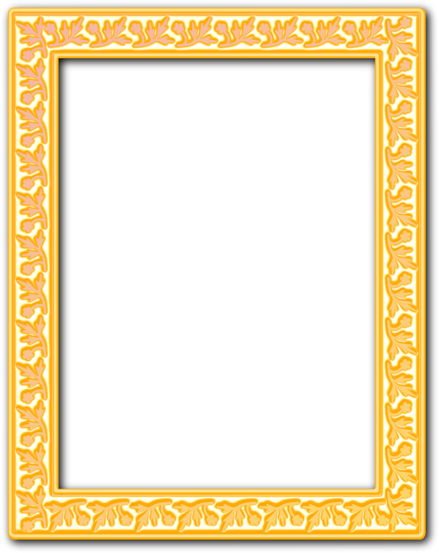 Download gold frame png clipart Picture Frames Clip art | Yellow ...