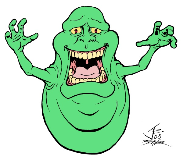 Ghostbuster Coloring Page Clipart Slimer Stay Puft Marshmallow Man Colouring Pages