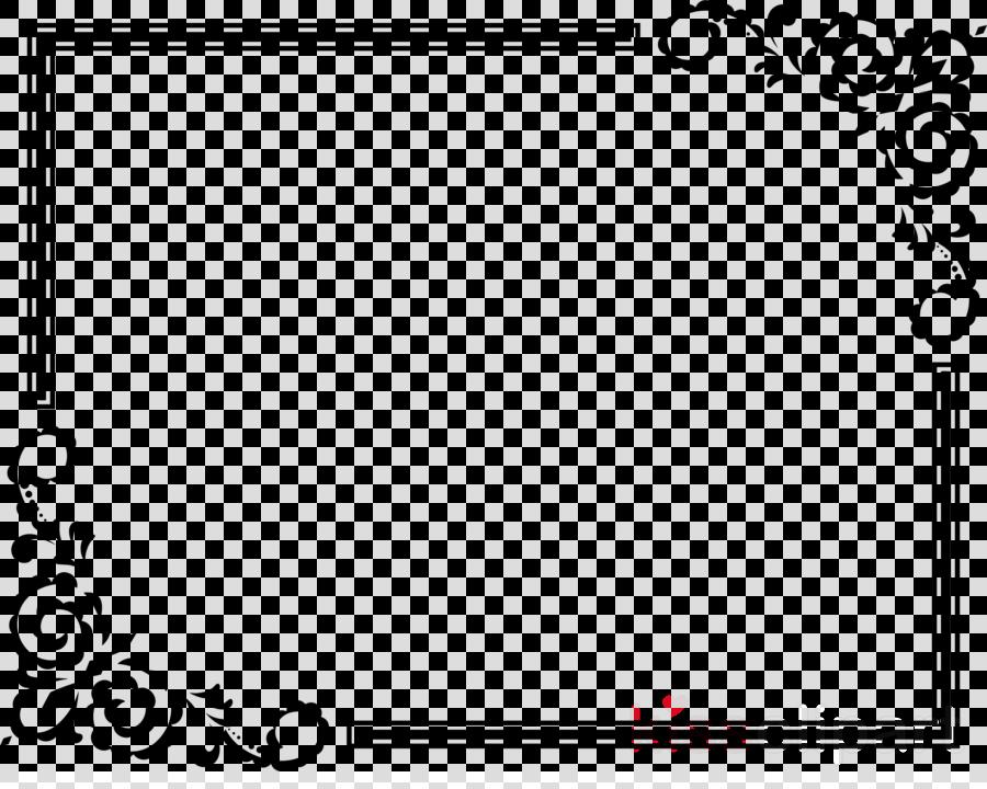Border Design Black And White Clipart Rectangle Black