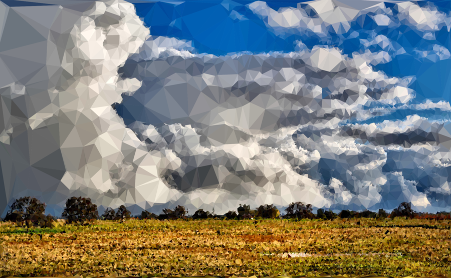 low poly meadow clipart Cloud Sky Clip art