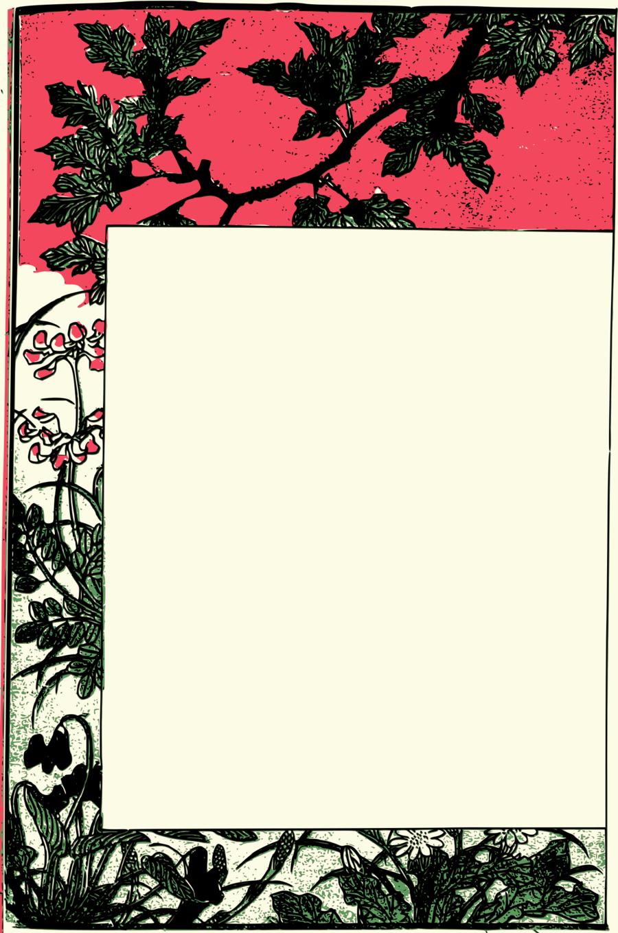 Border Design Flower Clipart Japan Ornament Flower