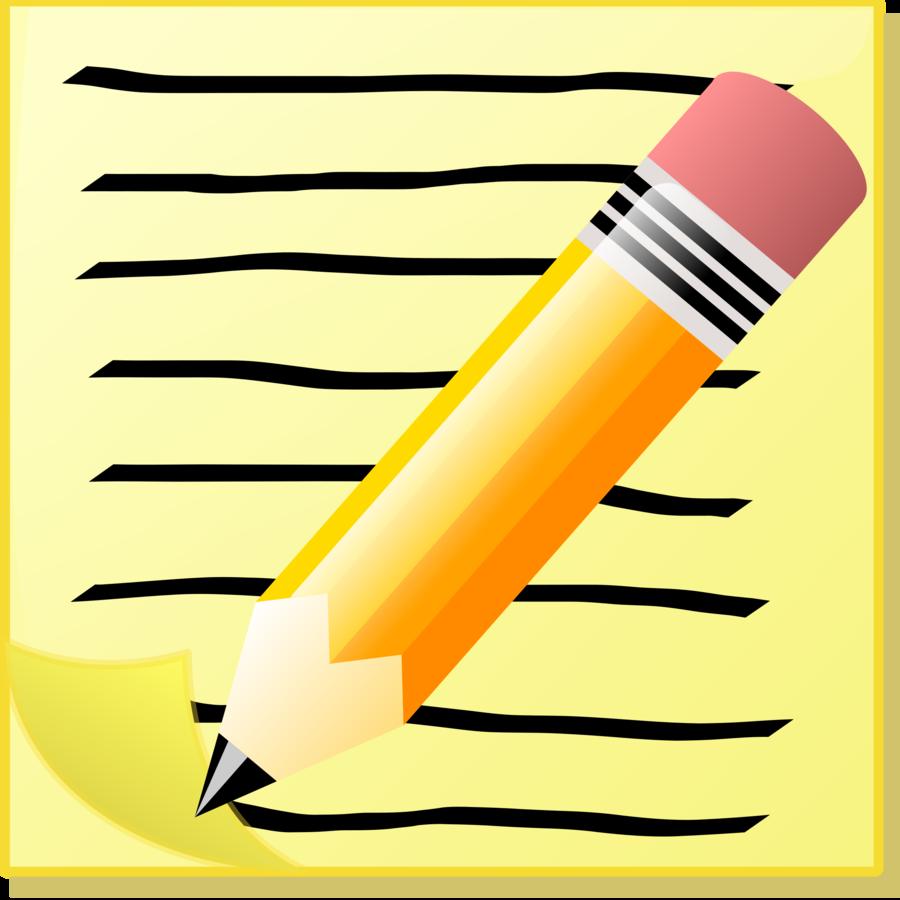 Pencil Clipart Clipart Writing Paper Pencil Transparent
