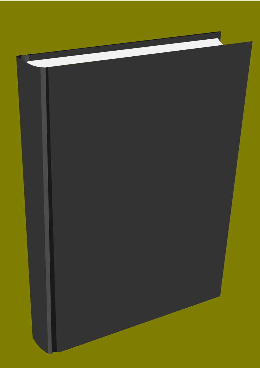 Book standing. Line cartoon clipart rectangle