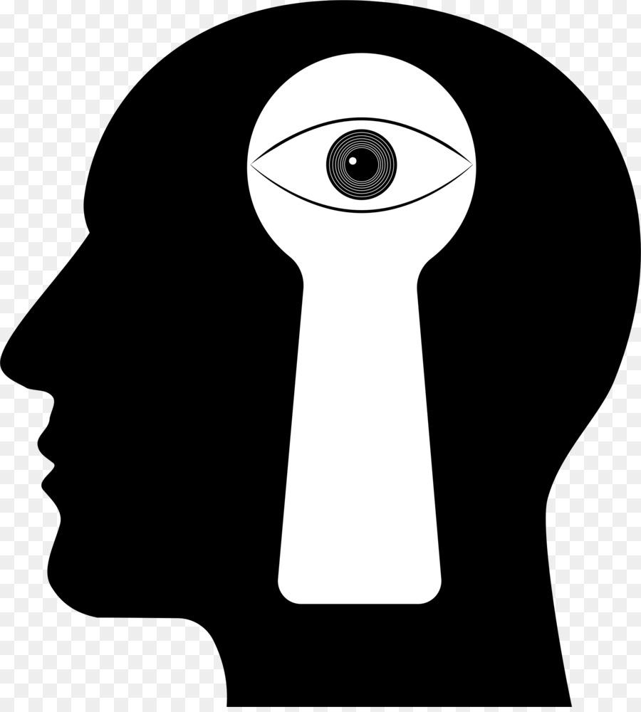 human head with brain silhouette transparent clipart Human head Human brain