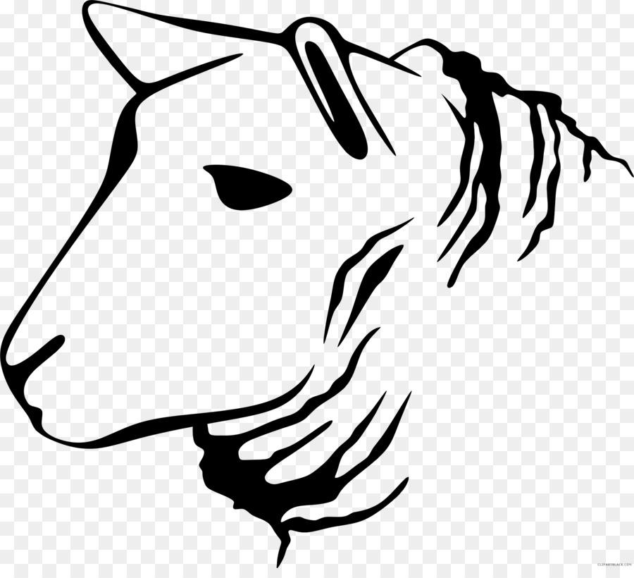 Bird Line Drawing Clipart Sheep Sticker Goat
