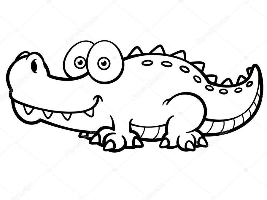 Download cocodrilo para colorear clipart Crocodile Coloring book ...