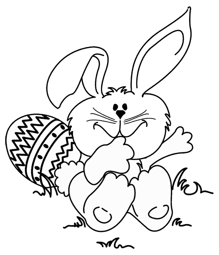 Easter bunny coloring page. Download pages clipart book