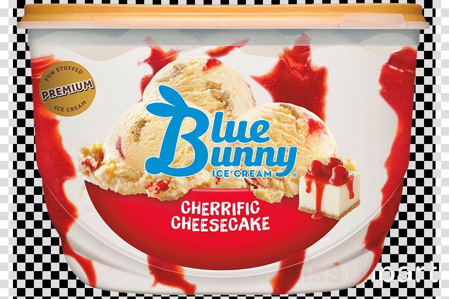 blue bunny cherry cheesecake ice cream clipart Ice cream Cheesecake Sundae