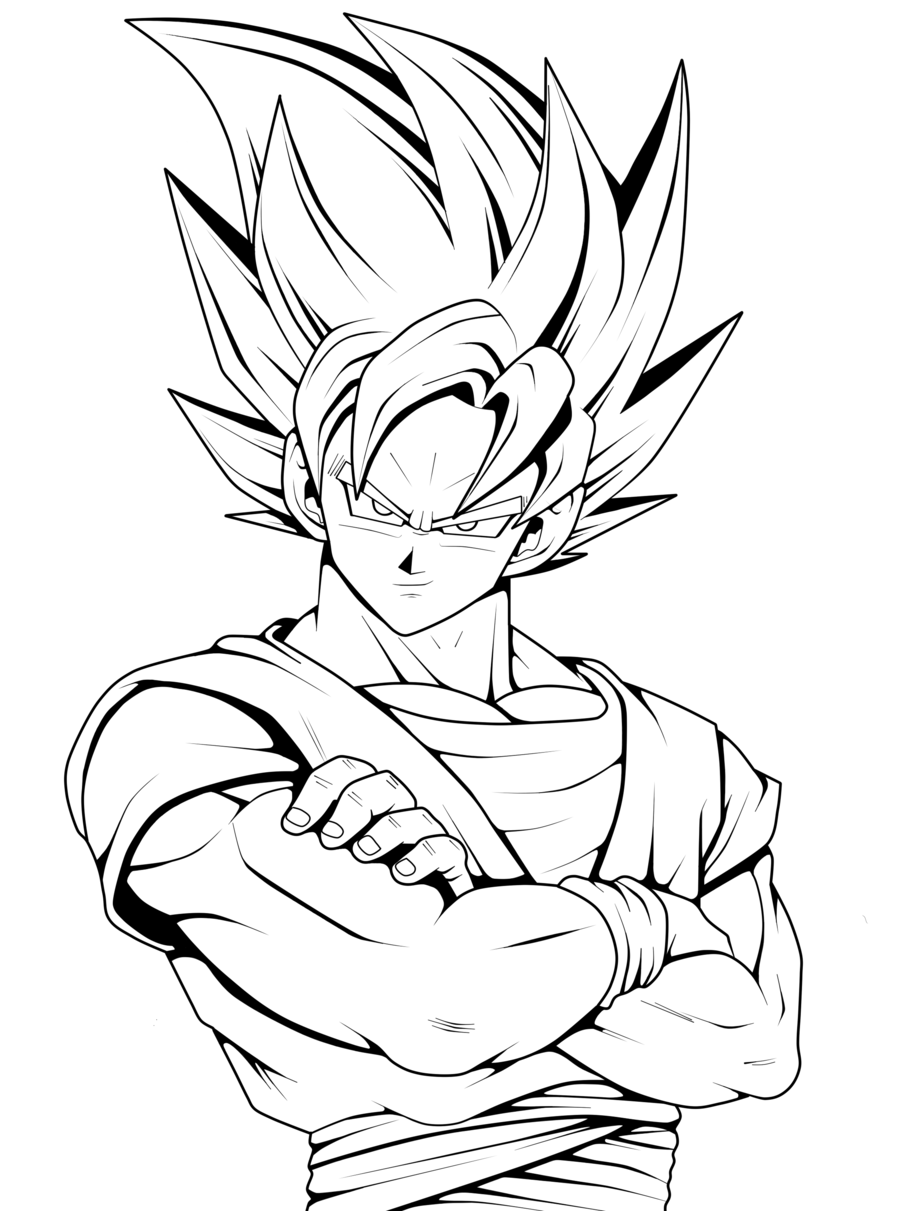 Goku drawing clipart goku gohan vegeta