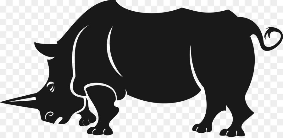 Vector graphics clipart Horse Rhinoceros