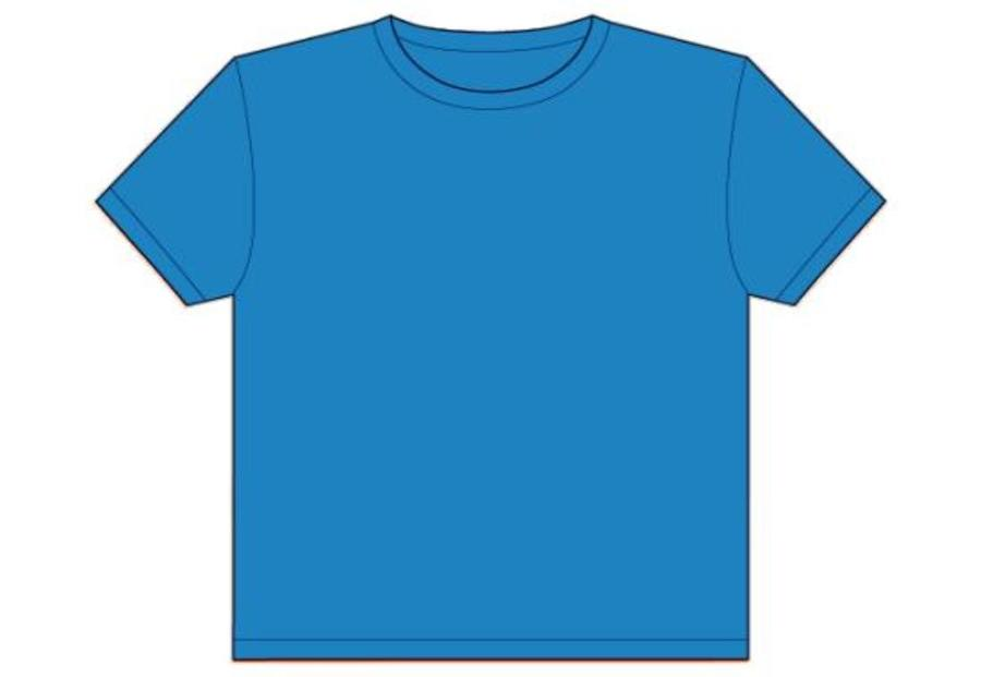 Blue T Shirt Design Template Clipart Navy
