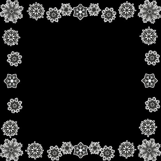 картинки рамок из снежинок