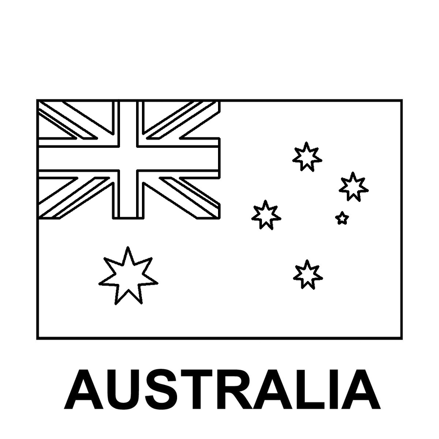 Download australia flag coloring page clipart Flag of Australia ...