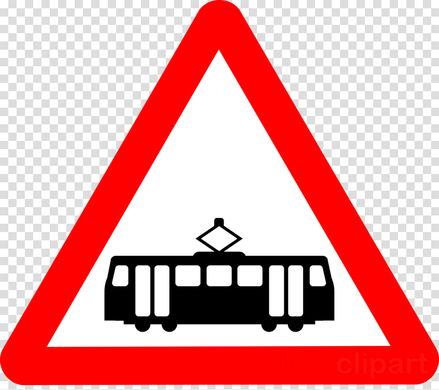trams crossing ahead sign clipart Trolley Traffic sign Level crossing