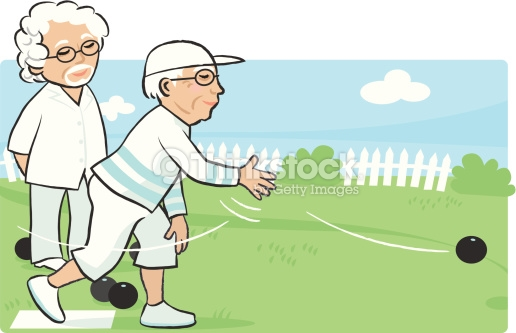 bowling game green man person boy child cartoon grass hand