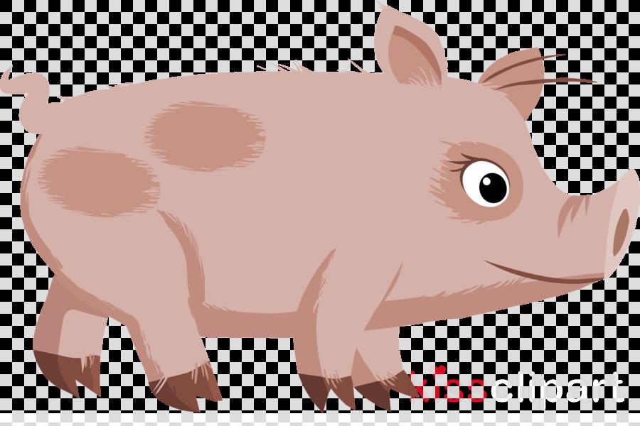 pig cartoon walking clipart Domestic pig Clip art