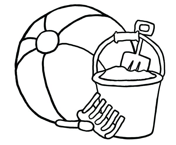Download Colouring Pages Of Beach Ball Clipart Coloring Book