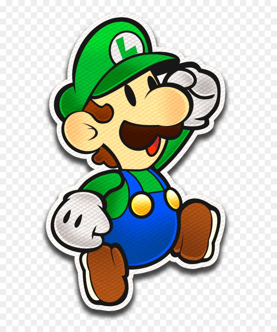 Luigi paper. Cartoon art product transparent