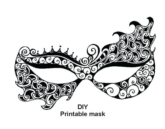 Masquerade Mask Template Print Clipart Ball