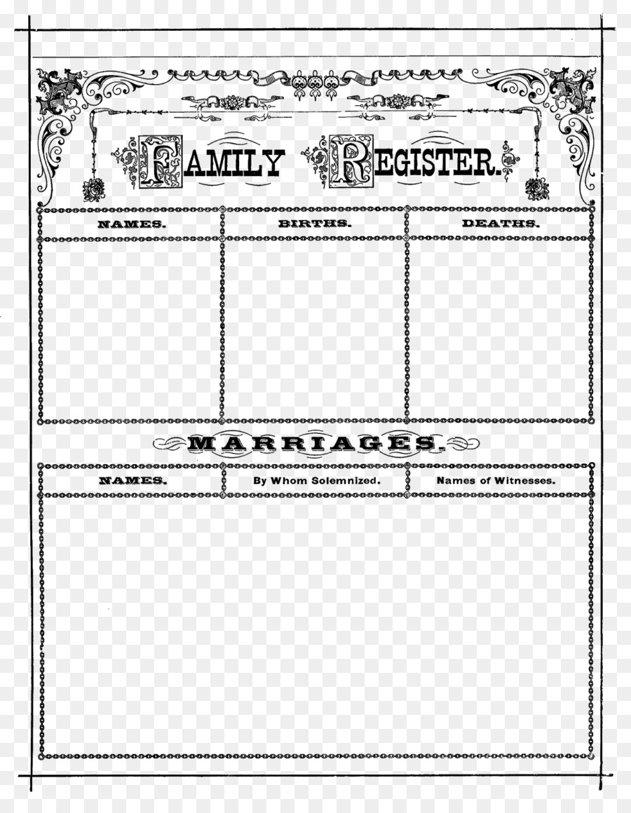 family register clipart Genealogy Family tree