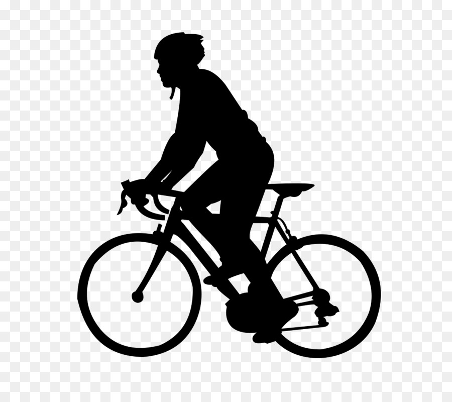 Black And White Frame Clipart Cycling Bicycle Line Transparent Clip Art