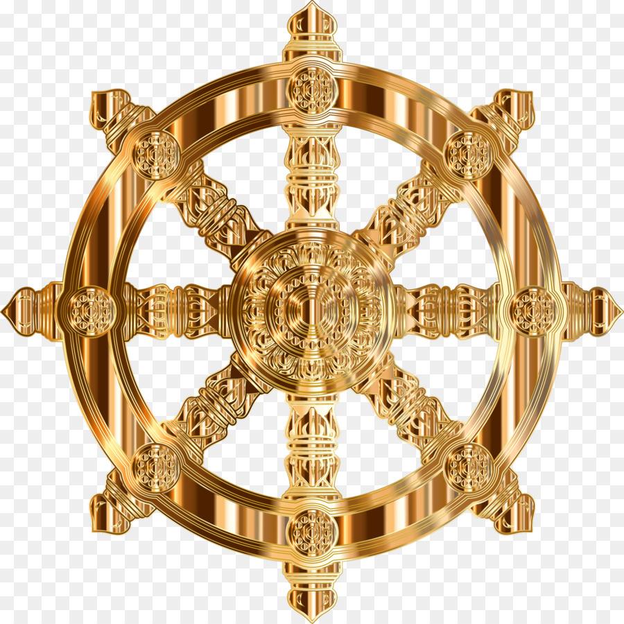 Download Buddhist Wheel Transparent Background Clipart Dharmachakra