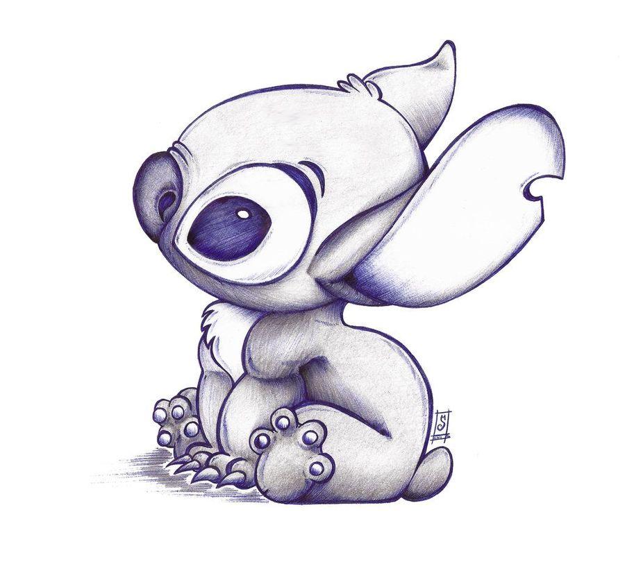Cute Stitch Drawing Clipart Sketch