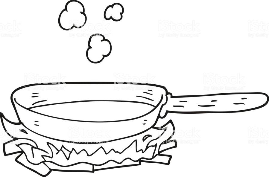 Download sarten caliente para colorear clipart Frying pan Clip art