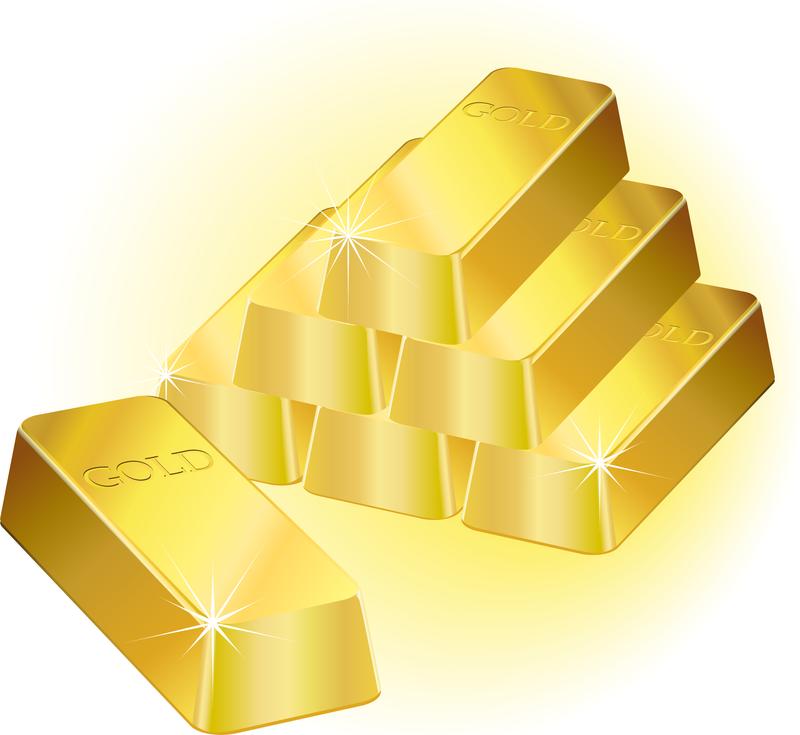 Gold Vector Clipart Bar Royalty Free