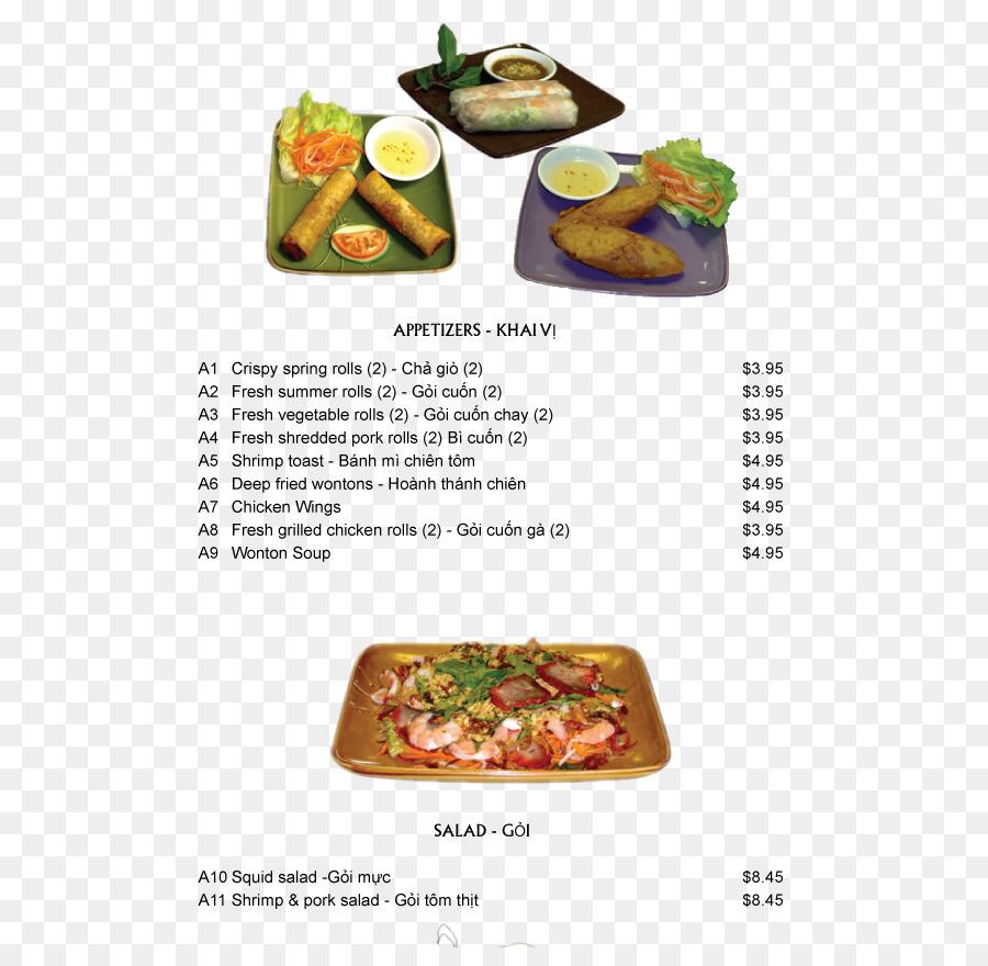 vietnamese food of appetizers menu clipart Vietnamese cuisine Pho Menu