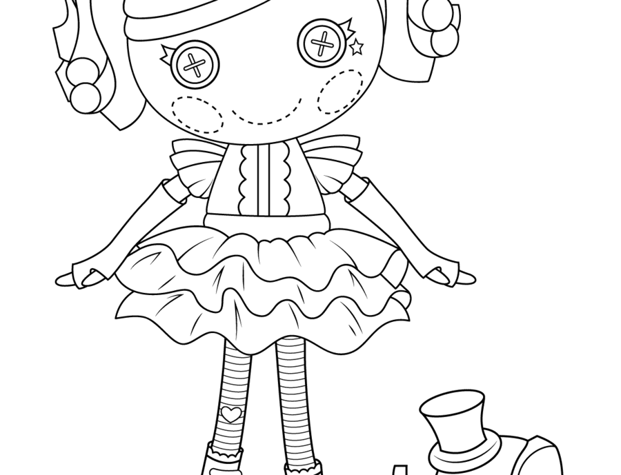 Lalaloopsy Peanut Big Top Doll clipart Coloring book Lalaloopsy Peanut Big Top Doll
